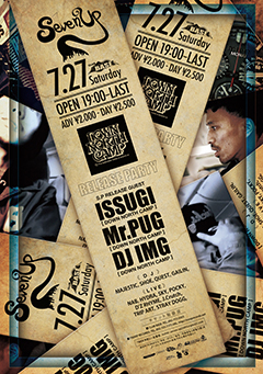 ISSUGI from MONJU / 16FLIP [SEVEN UP~ISSUGI「EARR」Mr.PUG「P-SHOCK」RELEASE PARTY~]at 福岡