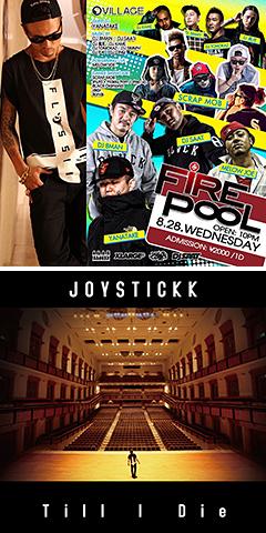 """本日、新曲""""Till I Die""""をリリースしたJOYSTICKKが麻布十番VILLAGEで開催される人気パーティ「FIRE POOL」に緊急参戦決定!"""