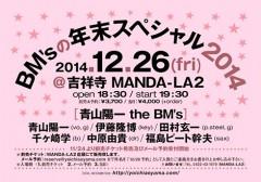 青山陽一 the BM's [BM'sの年末スペシャル2014]at 東京