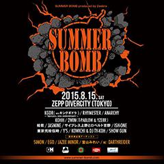 JAZEE MINORがZeebraのプロデュースするヒップホップ・フェス #SUMMERBOMB に出演決定!