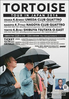 TORTOISE [TOUR IN JAPAN 2016]at 東京