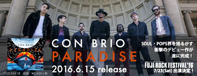 "6/15 release  CON BRIO ""PARADISE"""