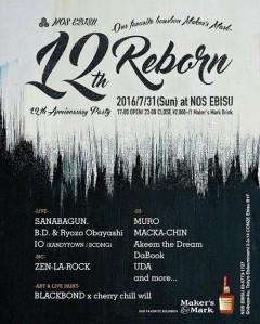 "IO【NOS EBISU 12TH ANNVERSARY PARTY ""REBORN""】 at 東京"