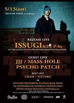 "ISSUGI【ISSUGI ""7INC TREE"" RELEASE PARTY】at 東京"