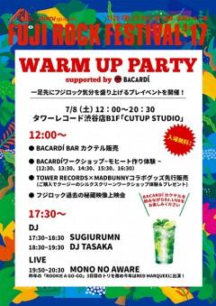 MONO NO AWARE【FUJI ROCK FESTIVAL'17 WARM UP PARTY】at 東京