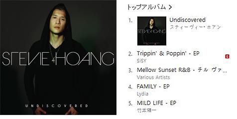 スティーヴィー・ホアン最新作『Undiscovered』がiTunes R&B/ソウル チャート1位を獲得!
