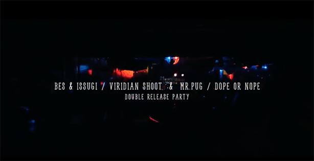 5月に池袋BEDで開催されたBESとISSUGIのジョイント・アルバムとMr.PUGのEPのWリリース・パーティの模様が公開!