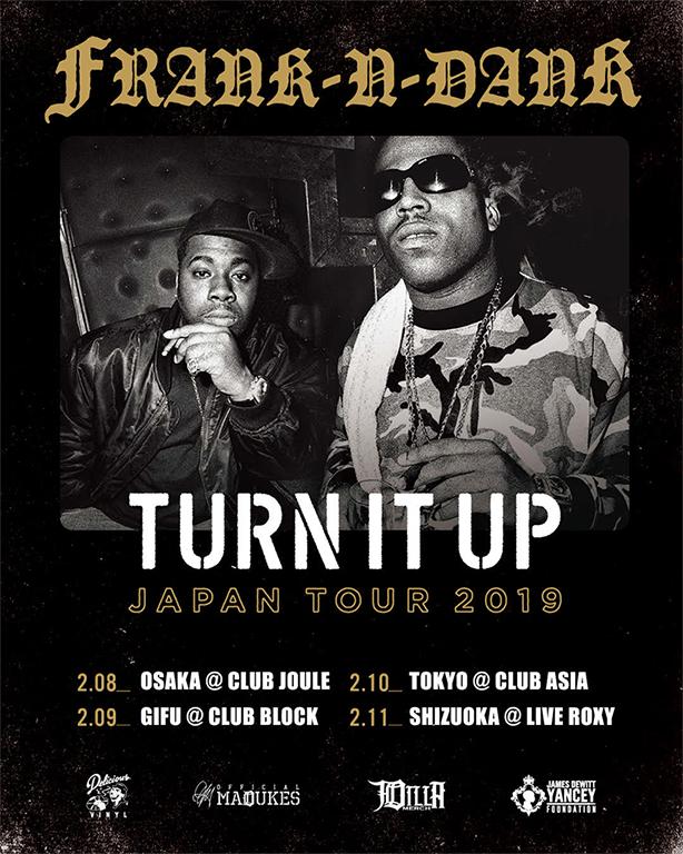 ISSUGIや仙人掌、BudaMunkらが出演!デトロイト出身のヒップホップ・デュオ、Frank-N-Dankのジャパン・ツアーが本日より開催!