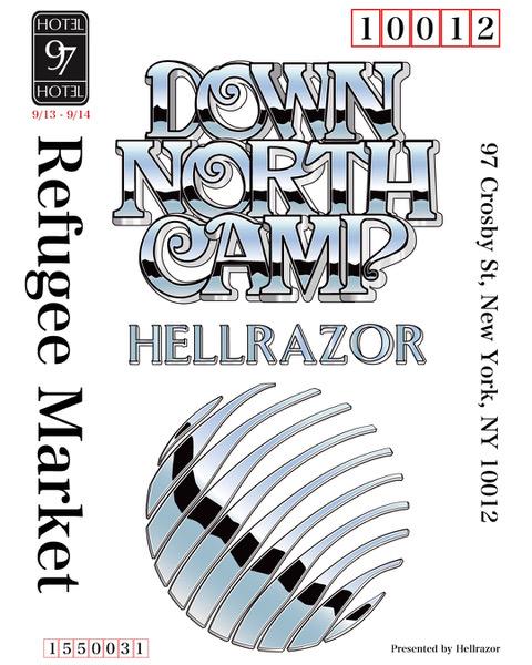 HellrazorとDOWN NORTH CAMPによるコラボ・コレクションのリリースを記念したポップアップ・イベント「REFUGEE MARKET」が今週末にNYで開催となり、レセプションパーティでは仙人掌がライブで出演!