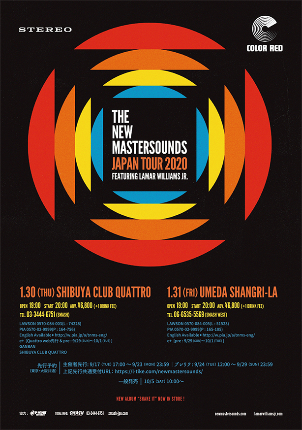 THE NEW MASTERSOUNDS JAPAN TOUR 2020 FEATURING LAMAR WULLIAMS JR. @Tokyo