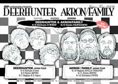 AKRON/FAMILY、「New Audiogram」にてDEERHUNTERとの来日公演レビュー掲載!
