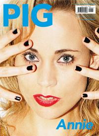 ANNIE、イタリアの音楽情報雑誌「PIG」の表紙を飾りました!