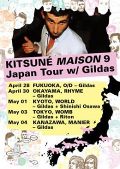 KITSUNE MAISON 9 JAPAN TOUR w/ GILDAS 決定!
