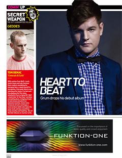 GRUM、UKを代表するダ ンス系専門メディア『DJ MAG』で9点獲得!『NME』『MOJO』等各メディアで大注目!