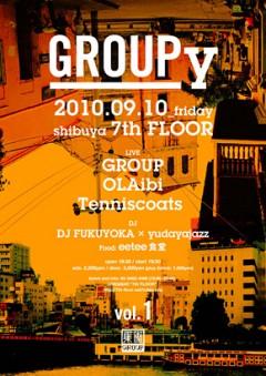 GROUP主催イベント「GROUPy -vol.1」9/10(金)渋谷7th floorにて開催!OLAibi / Tenniscoats 出演!