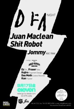THE JUAN MACLEAN、9/17(金)『DFA JAPAN TOUR @ ELEVEN』緊急来日!!