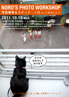 『ヨーロッパを旅してしまった猫』の黒猫ノロが六本木ヒルズにやってくる!