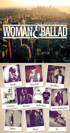 """STAR BASE MUSICが贈る男性のバラードのみで構成されたMix CD """"WOMAN & BALLAD""""発売へ!!"""