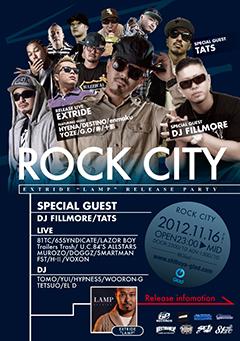EXTRIDEの新作『LAMP』のリリース・パーティが人気イベント「ROCK CITY」にて開催!